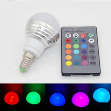 AC85V-265V 3 Вт E14 Изменение Цвета RGB LED Волшебный Свет Затемнения Лампада Лампы Пятно лампы освещения + 24 ключ ИК Пульт дистанционного управления