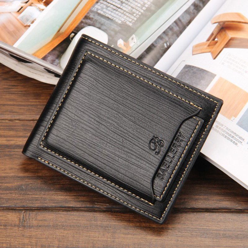 Bags For Men 2019 Men's Bifold Leather Wallet ID Credit Billfold Clutch Fashion Style Popular Business Type