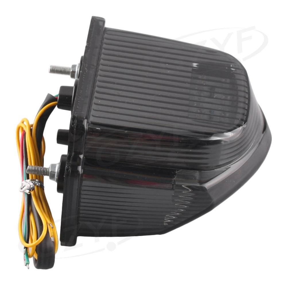 For Honda <font><b>CBR600RR</b></font> F5 2007-2012 Integrated <font><b>LED</b></font> Rear Tail Light Turn Signal Smoke