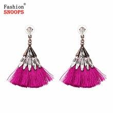 New Cotton Handmade Earrings Ethnic Jewelry Bohemia Tassels Dangle Earrings For Women Wedding Accessories