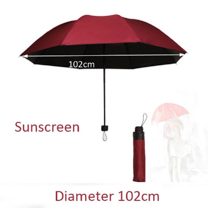 High-end grote business mannen en vrouwen zon bescherming UV opvouwbare regen tweeërlei gebruik paraplu 125 cm 112 cm 10 botten 102 cm 8 botten