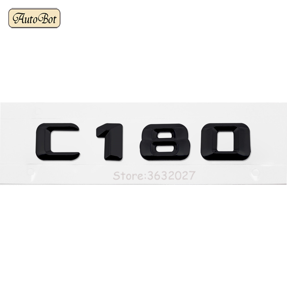 ABS C55 C63 C180 Car Trunk Rear Letters Badge Emblem Decal Sticker For Mercedes Benz C Class AMG 190E W201 W202 W203 W204 W211 in Car Stickers from Automobiles Motorcycles