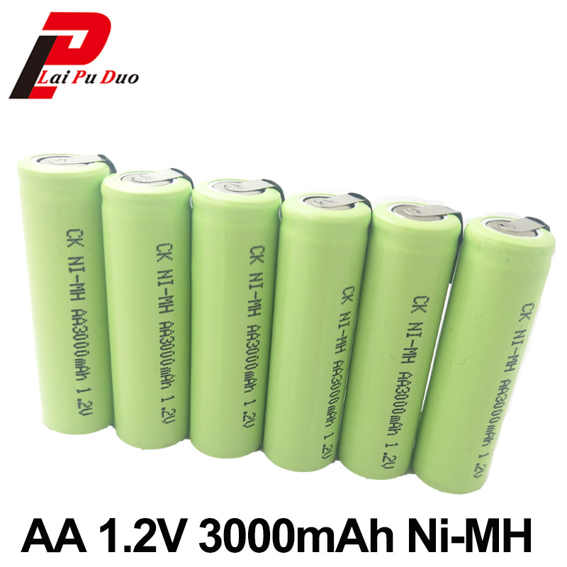 AA 1.2V 3000mAh Ni-MH Rechargeable Battery For Electric Toys Toothbrush Digital Camera Mobile Power Headset Shaver Flash Light