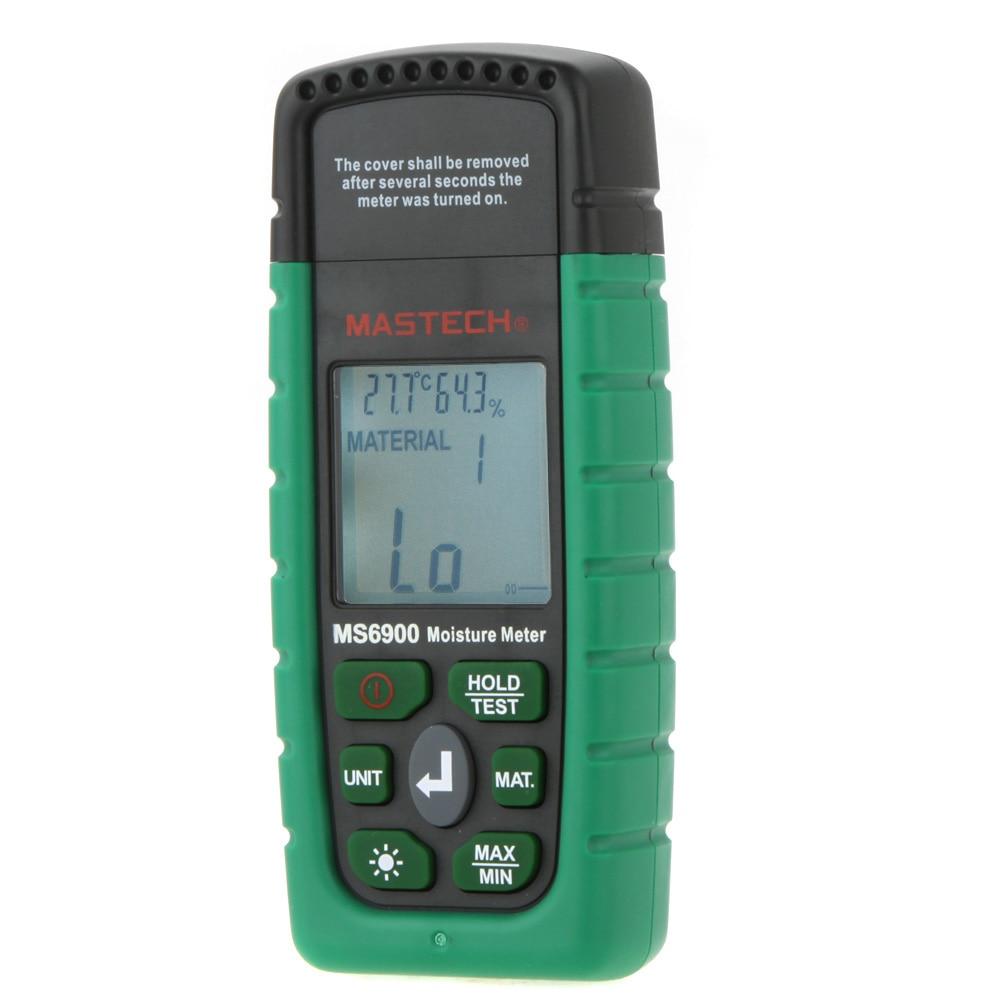 Digital Moisture Meter : Mastech ms higrometre mini digital moisture meter wood