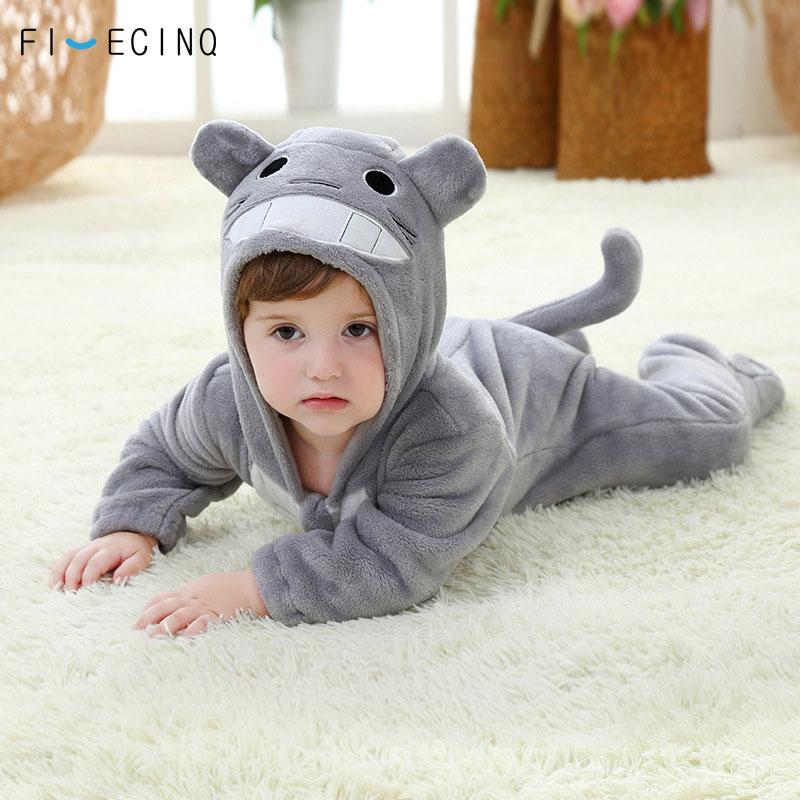 Image 2 - Totoro Cosplay Costume Baby Kigurumis Onesie Anime Gray Funny Cute Cat Pajama Infant Children Kid Soft Sleeping Suit Party Fancy    -