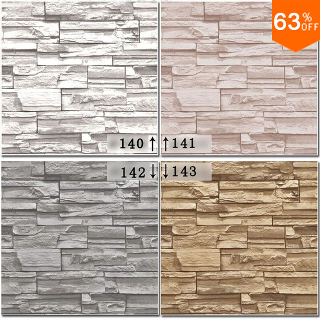 hout behang roll houten steen pvc grijze bakstenen muur vinyl damast