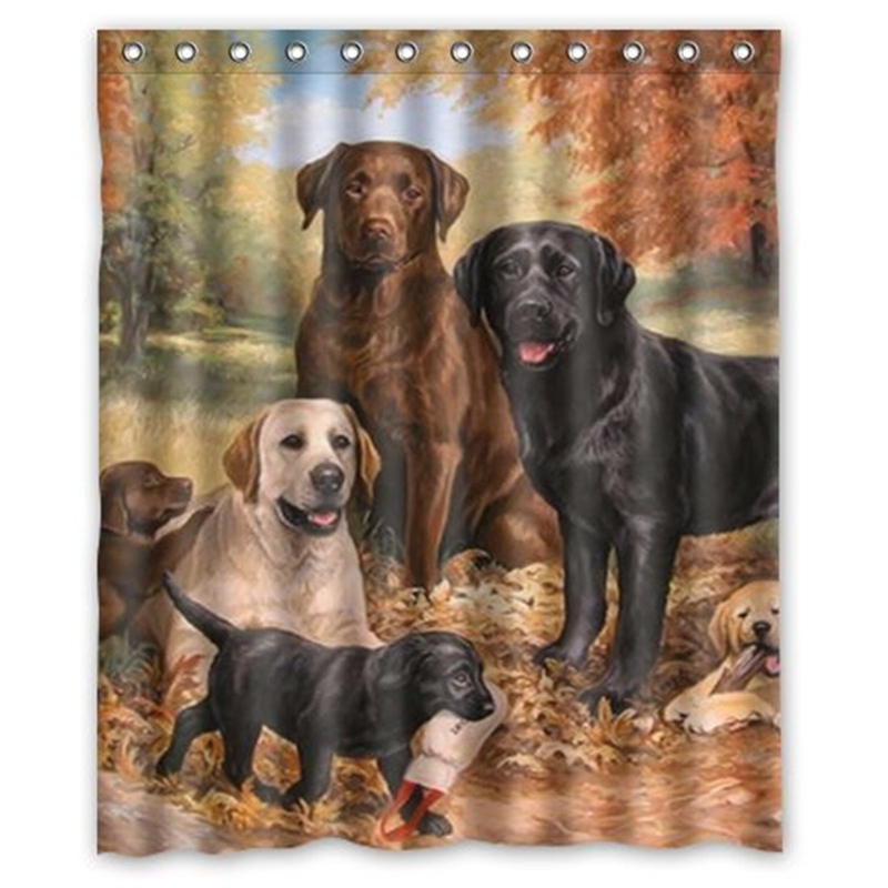 Aliexpress.com : Buy Waterproof Lovely Labrador Retriever Dog Shower Curtain  Tub Curtain Bath Bathing Sheer For Home Decorations With Hooks 180X150cm  From ...