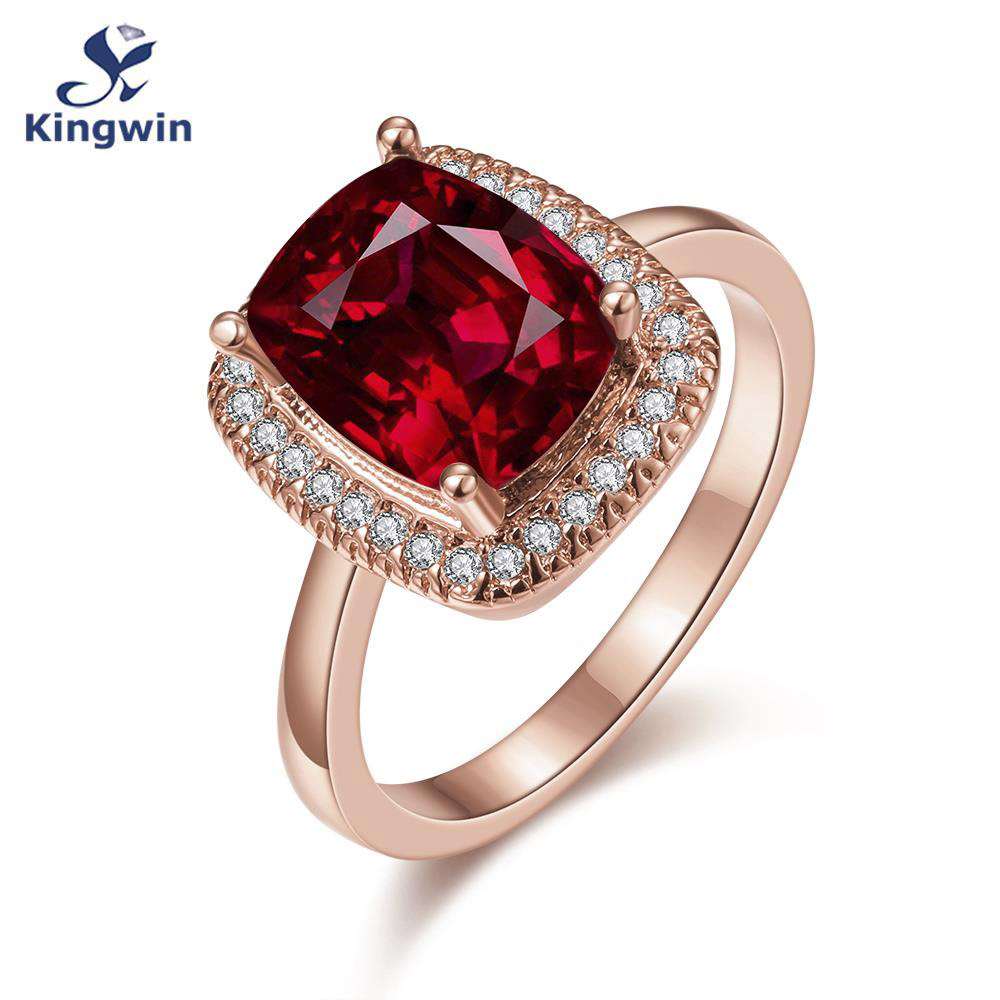 Aliexpress : Buy New Designer Lab Gem Jewelry Rose Gold Color Synthetic  Red Cz Zircon Bridal Ring Women Fashion Wedding Accessories From Reliable  Bridal