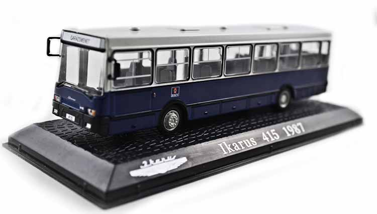 ФОТО Special Out of print 1:72 ATLAS IKARUS alloy bus model 415-1987 Original model Collection model