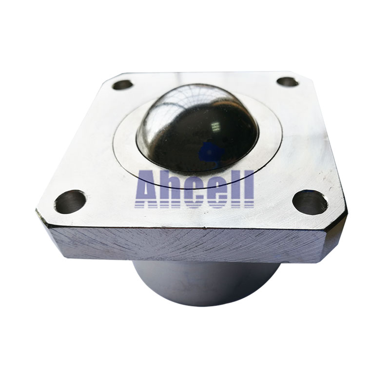 30mm solid steel big ball SI-30 bearing caster 300kg load capacity conveyor caster wheel Heavy Flange Ahcell Ball transfer unit 4pcs m12 thread bolt rod fix mount ball caster machined solid steel robot ball roller conveyor wheel ksm 25fl ball transfer unit