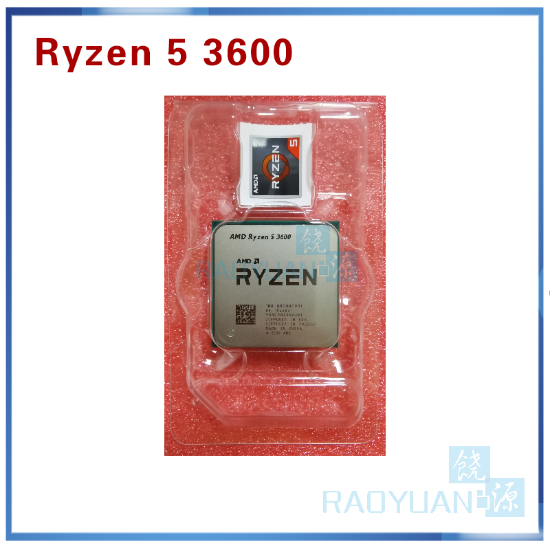 AMD Ryzen 5 3600 R5 3600 3.6 GHz Six-Core Twelve-Thread CPU Processor 7NM 65W L3=32M 100-000000031 Socket AM4