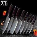 XYj Damaskus Küchenmesser Set Werkzeug Neue Ankunft 2019 VG10 Core 73 Schicht Japanischen Damaskus Stahl Messer Küche Kochen Werkzeuge
