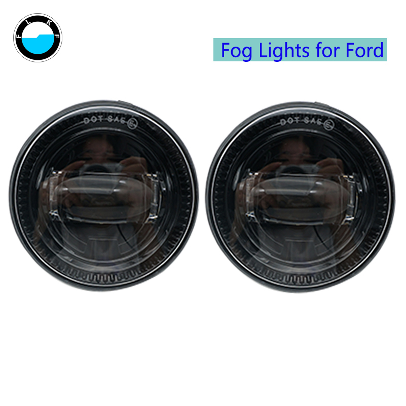 Round Led Fog Lights Replacement Bulb For Ford F150 2015 2016 2017 1 pair 30W Fog Lights For Ford.
