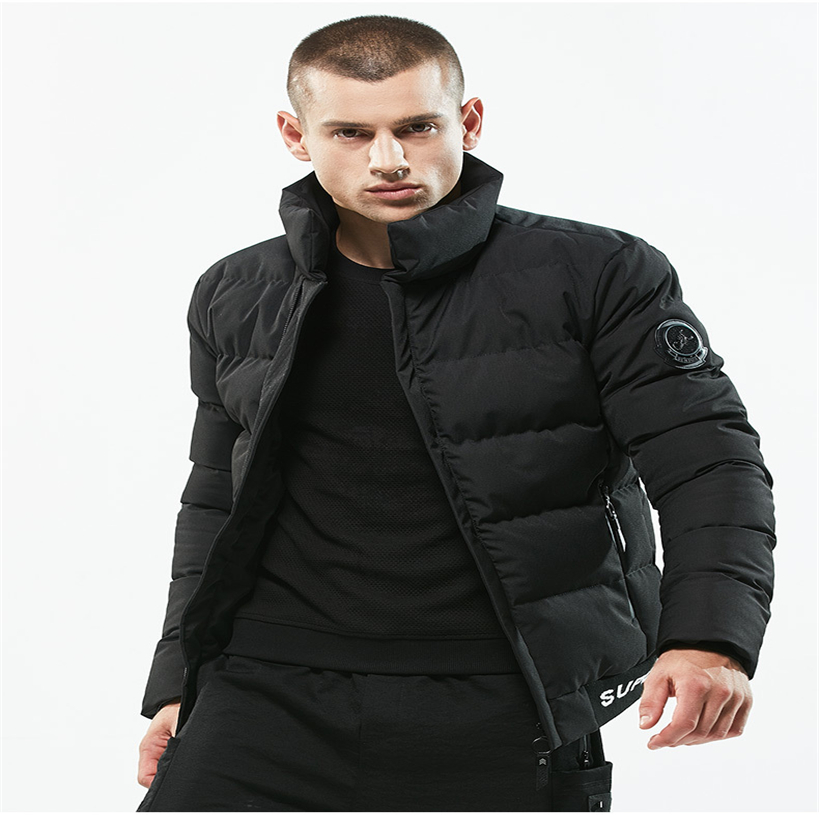 Winter Men Jacket 2018 Brand Casual Black dark blue Mens Jackets And Fashion thick cotton pad Men Outwear Jacket Male Clothing