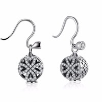 HOT Clover 925 Sterling Silver A Wholesale Charm Women Fashion Jewelry Crystal From Swarovski Name Earrings