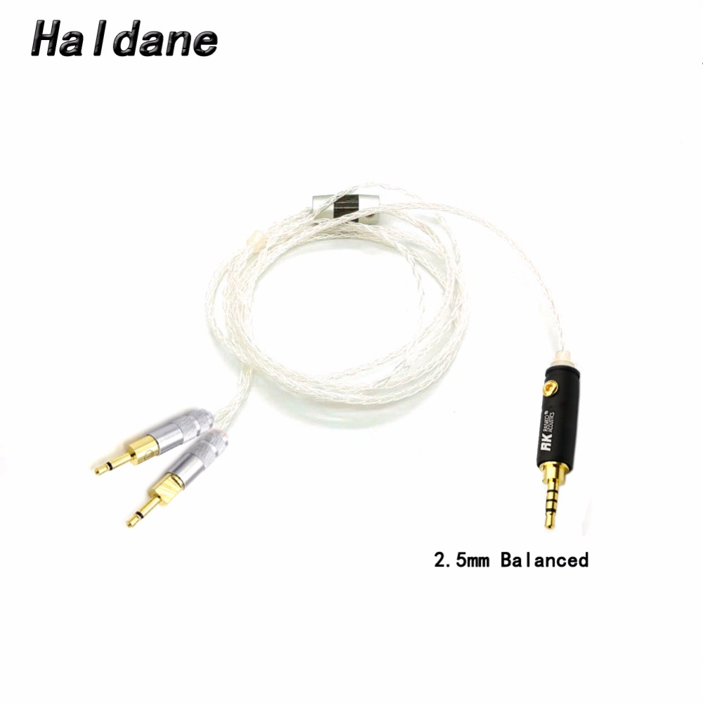 Free Shipping Haldane 2 5 3 5 4 4mm Balanced 8core Silver Plated Headphone Upgrade Cable