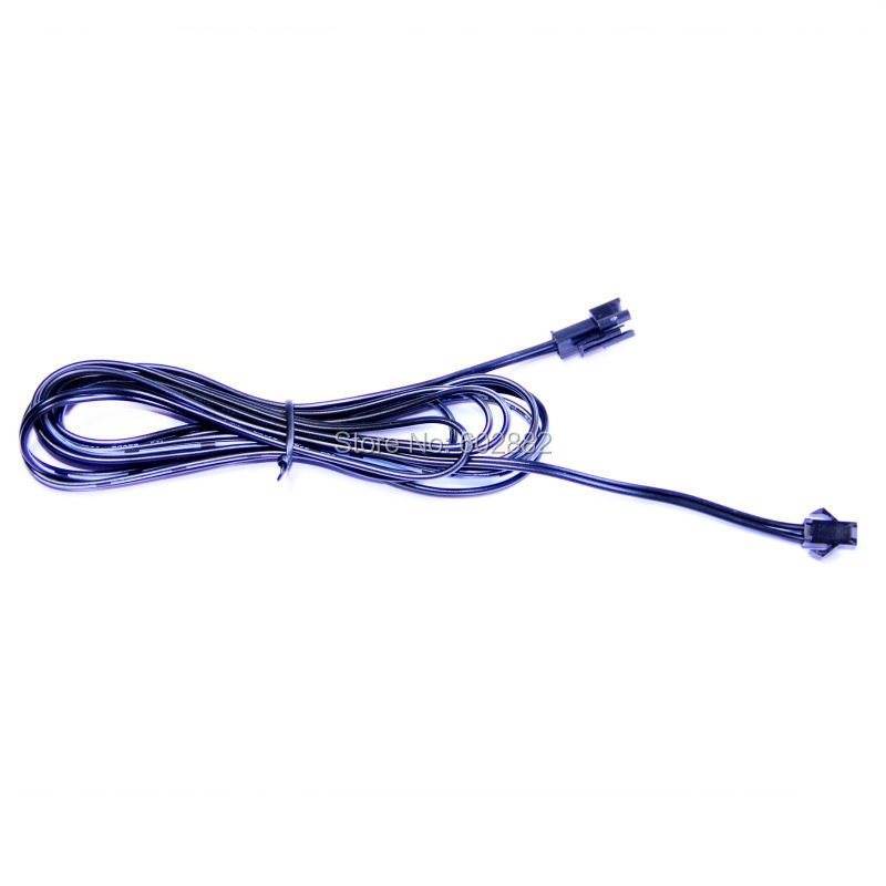 200cm long extension Wire (With Male and Female connector on both ends), split, el wire