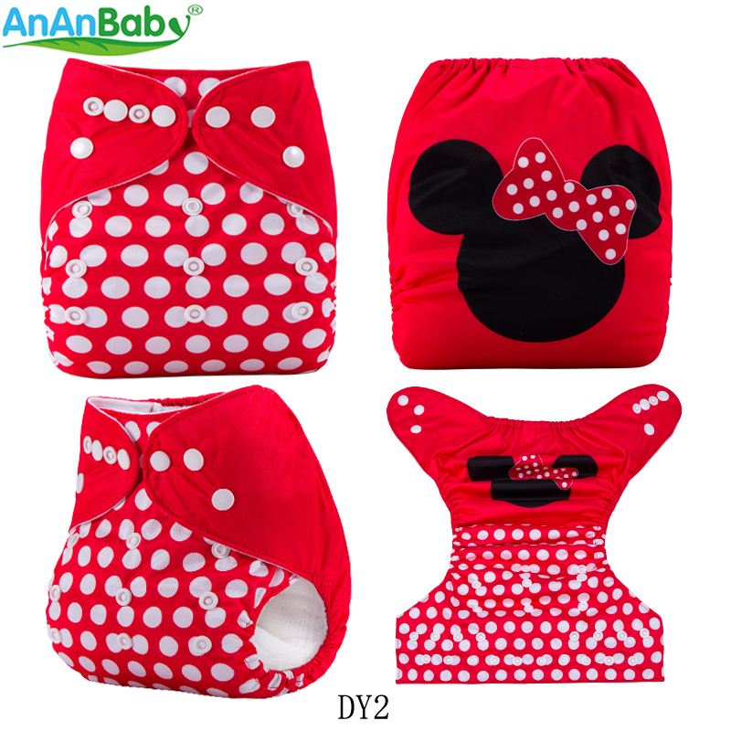 {AnAnBaby}New Design Baby Cloth Diaper Waterproof & Reusable Digital Position Nappies You Chose With Microfiber Inserts Or Not