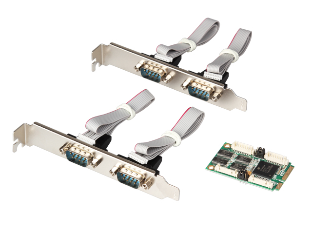 Mini PCI express 4 Serial ports Controller card mini PCIe to DB9 RS232 adapter mini PCI-E COM Card MCS9904