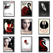 Black Swan Posters Movie Wall Stickers White Coated Paper Prints Home Decoration Livingroom Bedroom Bar Home Art Brand A3(China)