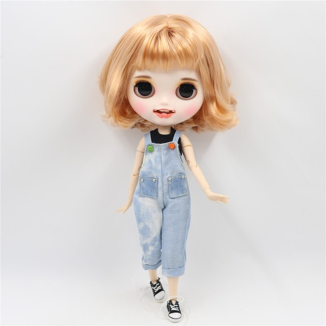 Hattie – Premium Custom Blythe Doll with Clothes Smiling Face