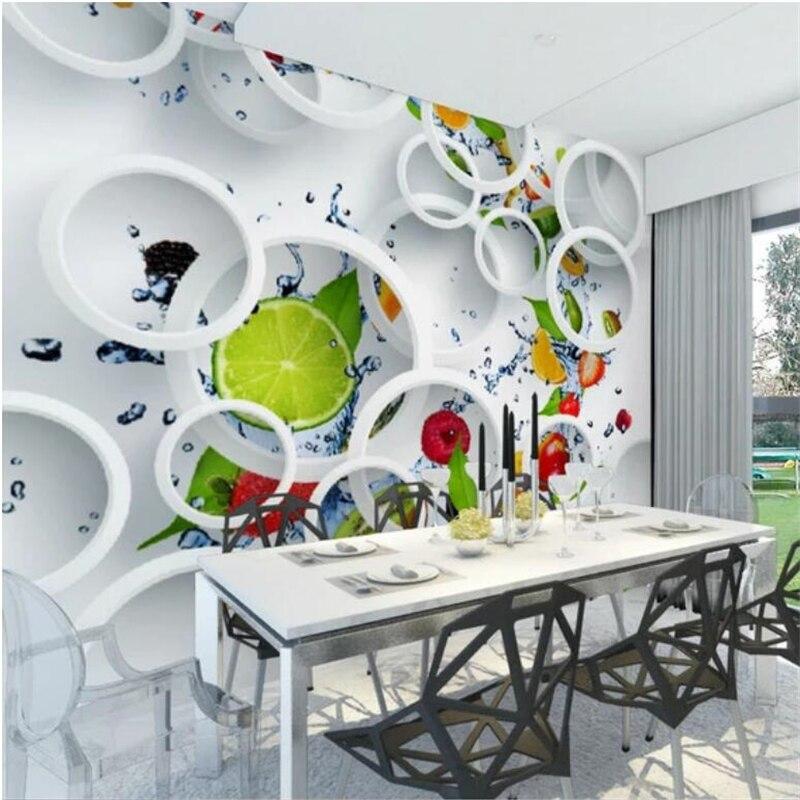 Beibehang Custom tapete große wandbild 3D obst kreis restaurant hintergrund wand wohnzimmer 5d tapete papel de parede 8d