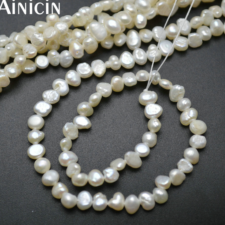 10pcs Natural Freshwater Pearl 4~5mm Free Form Shape