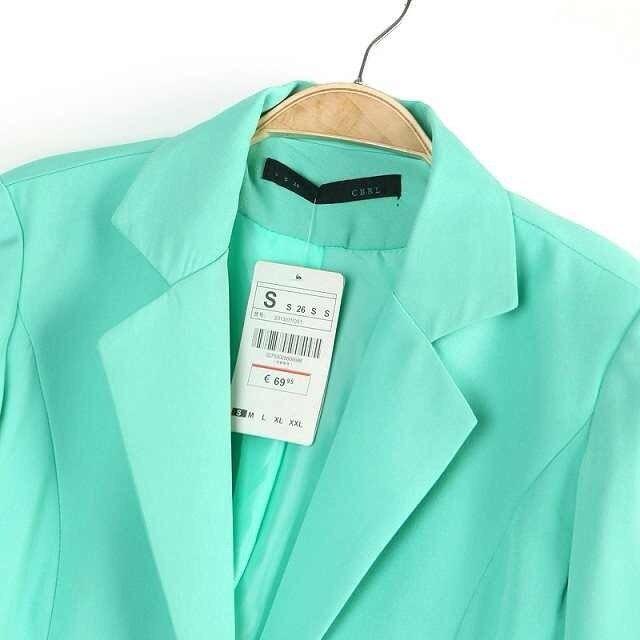 Women OL Mint Green Coral Jacket Blazer  Shorts 2pcs Suit Lady OL ...