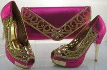 African Schuh-Und Taschen Setzen, Passenden High Qualität Mode italienischen Schuh Mit Passender Tasche Für Party Frauen Pumpt Schuhe ME1102