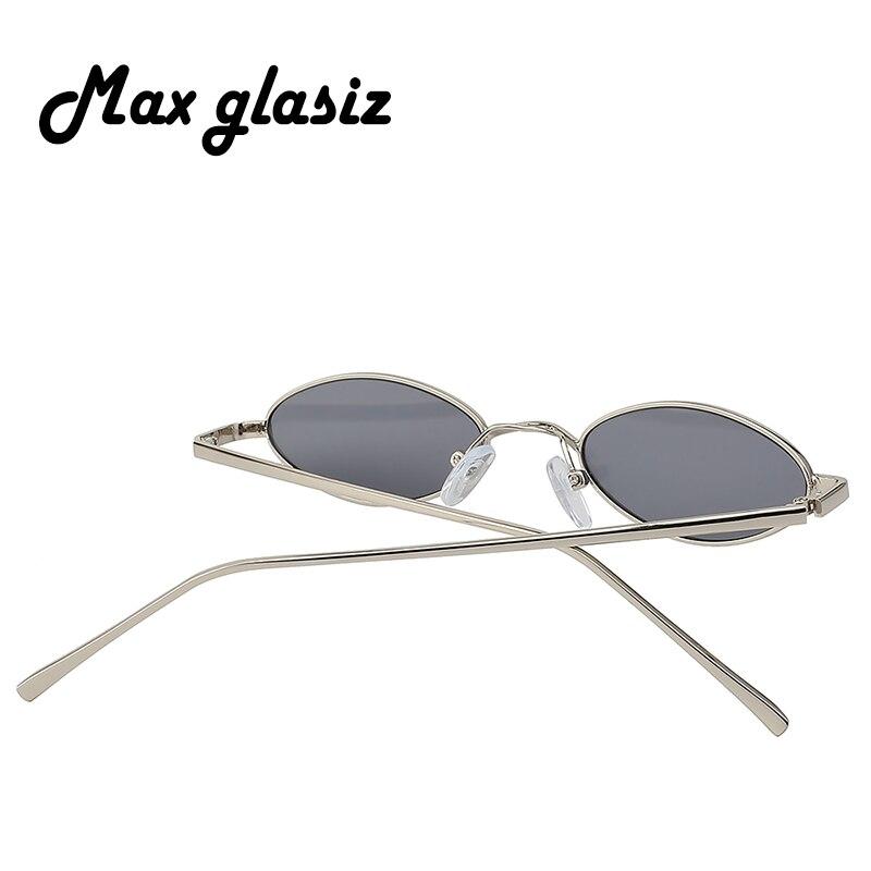 5e9e6d8f02c74 Max Glasiz offres spéciales lunettes de soleil ovales monture en métal  hommes et femmes petite taille lunettes de soleil femme Vintage rouge  lentille ...