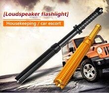 Teleskopik baton kendini savunma el feneri led 18650 pil şarj edilebilir araba torch lambası su geçirmez zoom hiçbir elektrik çarpması ışık