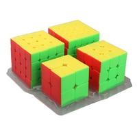 Moyu MofangJiaoshi 4 teile/satz 2*2,3*3,4*4,5*5 Glatte Cube Puzzle Denkaufgabe Magico Spee Cube Hand Spinner Spielzeug