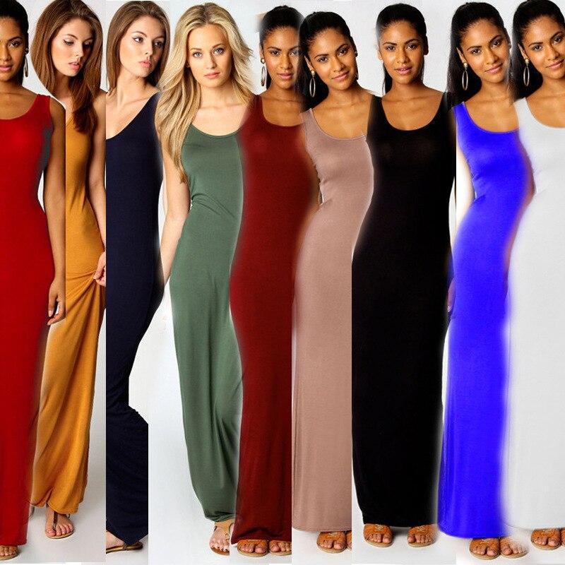 Mode d'été Femmes Coton Réservoir Longues
