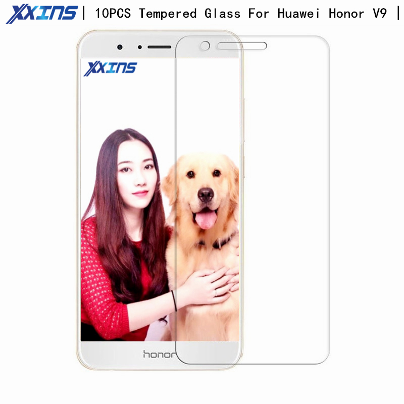 10PCS wholesale Tempered Glass For Huawei Honor V9 Screen Protect V 9 smartphone Mobile Phone Honor 8 Pro Protector film in Phone Screen Protectors from Cellphones Telecommunications