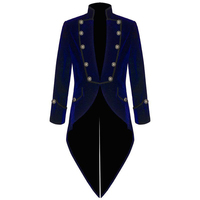 Velvet Bule Swallow Tailed Coat Custom Made Fashion Men Suits Formal Party Prom Blazer Latest Coat Pant Hot SaleJacket+Pant