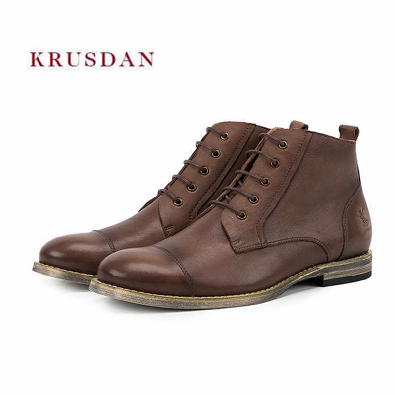 fe894550a4 Detail Feedback Questions about KRUSDAN Men Flats Military Boots ...