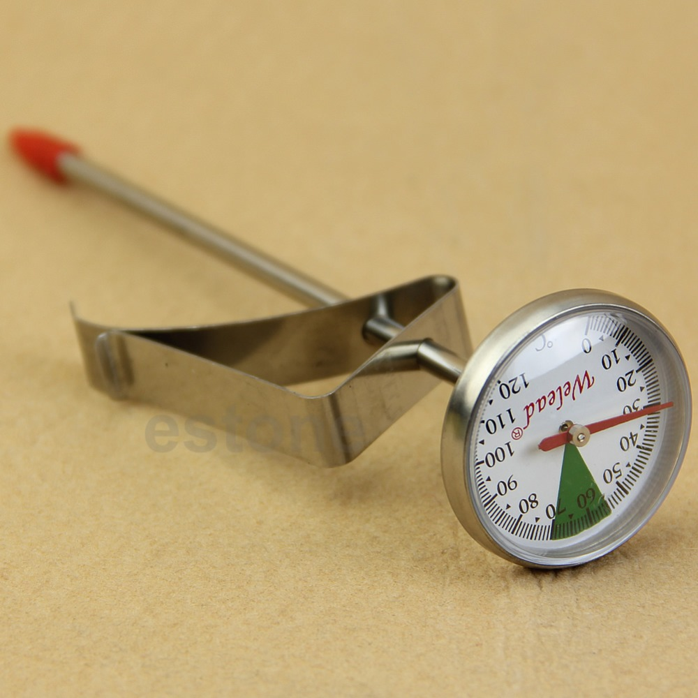 Instant Read Stainless Steel Kitchen Food Cooking Milk Coffee Probe Thermometer