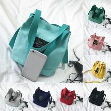Lady Canvas Messenger bag Mini Single Shoulder Bag Crossbody  Women Girls swagger bag Female Shopping Travel bags