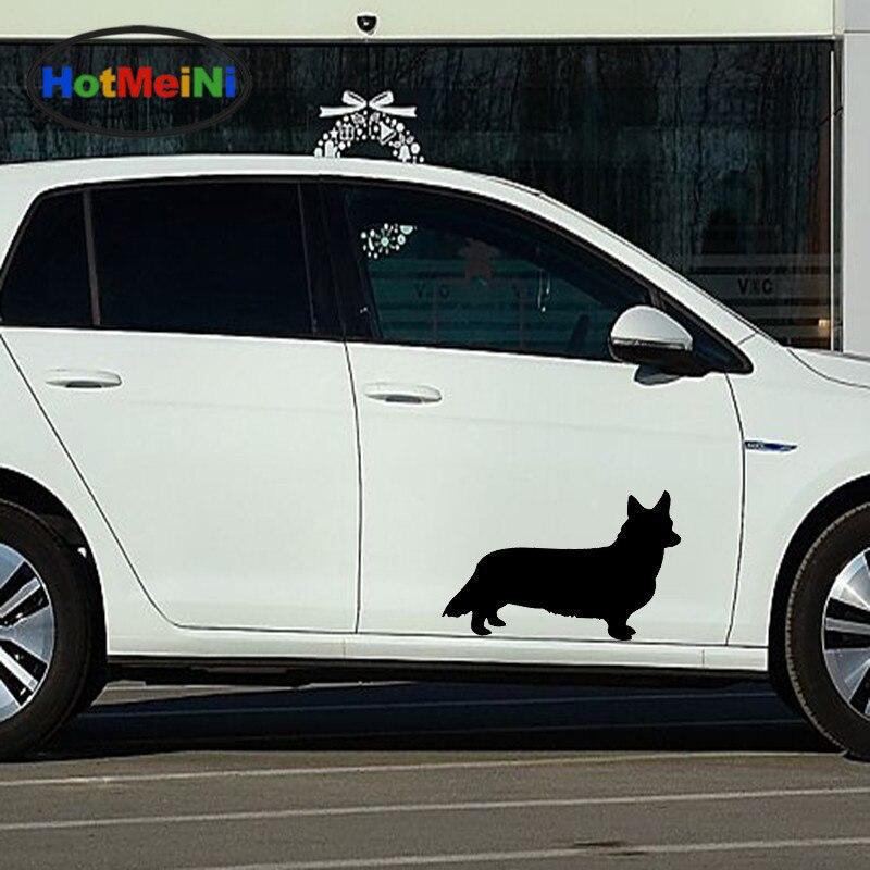 2019 Nieuwe Stijl Hotmeini 2x Leuke Dier Huisdier Man Beste Vriend Welsh Corgi Hond Auto Sticker Voor Muur Truck Kano Interieur Vinyl Decal 9 Kleuren