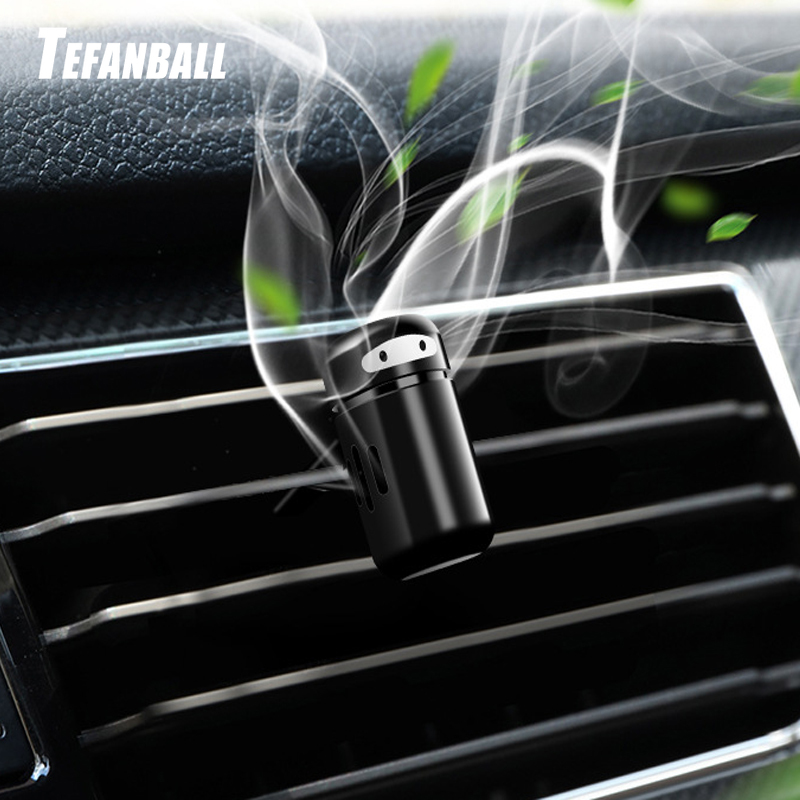 Image 2 - Car Freshener Alloy Mini Robot Vent Clip Perfume Diffuser Decor Automobiles Internal Solid Balm Smell Air Purifier Accessories-in Air Freshener from Automobiles & Motorcycles