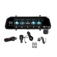 E08 Plus Автомобильный видеорегистратор 10 дюймов Ips пресс 4G зеркальный видеорегистратор Android Adas Gps Fhd 1080 P Wifi авто регистратор зеркало заднего ви