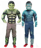 New Avengers Hulk Costume Dress For Kids Fancy Dress Halloween Party Decorations Supplies Children Gifts