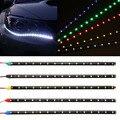 Гибкая светодиодная лента для автомобиля  30 см  12 В 11 8 дюйма  15 SMD  водонепроницаемые светодиодные дневные ходовые огни  декоративные автомоб...