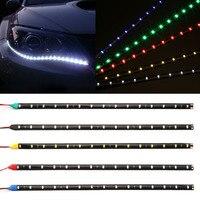 """Tira de luces LED Flexible de 30cm para coche de alta potencia 12V 11 8 """"15 SMD  luz LED de conducción diurna decorativa DRL para coche car drl daytime running led daytime running -"""