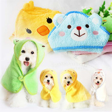Cartoon Animal Hooded Bath Robe for Small Dogs