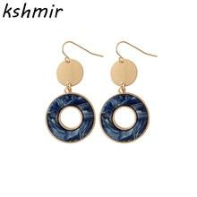 kshmir Pop geometric round eardrop, acetate plate resin, earrings, metallic matte, sequins, delicate jewelry wholesale