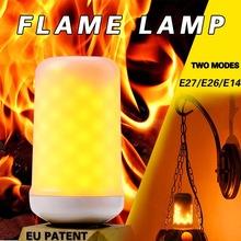 Rozpraszanie ciepła 2W 3W 5W E27 E26 E14 żarówka płomienia 85-265V LED efekt płomienia lampka imitująca ogień żarówki migotanie emulacja Decor lampy LED tanie tanio HAWBOIRRY Fluorescencyjne Inżynieria Indoor Profesjonalne Natura biały (3500-5500 k) 250-499 10000 90-260 v WHITE 80-90