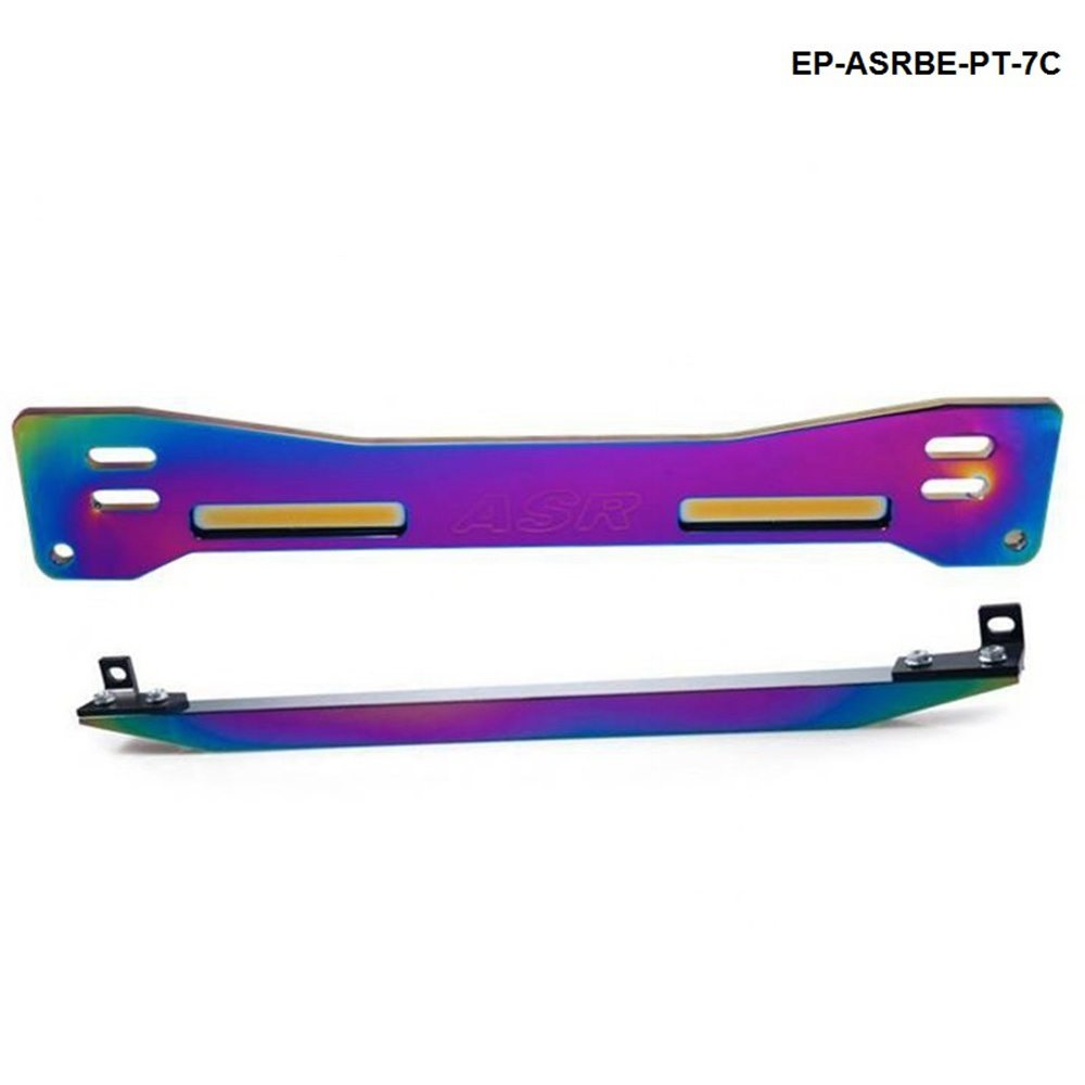 Aluminum Neochrome Rear Suspension Rear Subframe Brace+Lower Tie Bar For Mitsubishi Proton Wira Evo1-3 EP-ASRBE-PT-7C