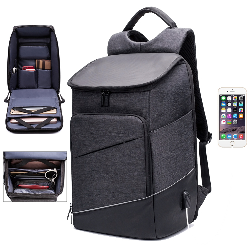 c931523b93 Fashion Men Backpack Travel Bag Business Anti Theft Backpack USB Charging  Waterproof Laptop Back pack Rucksack Women Daypack Man-in Backpacks from  Luggage ...