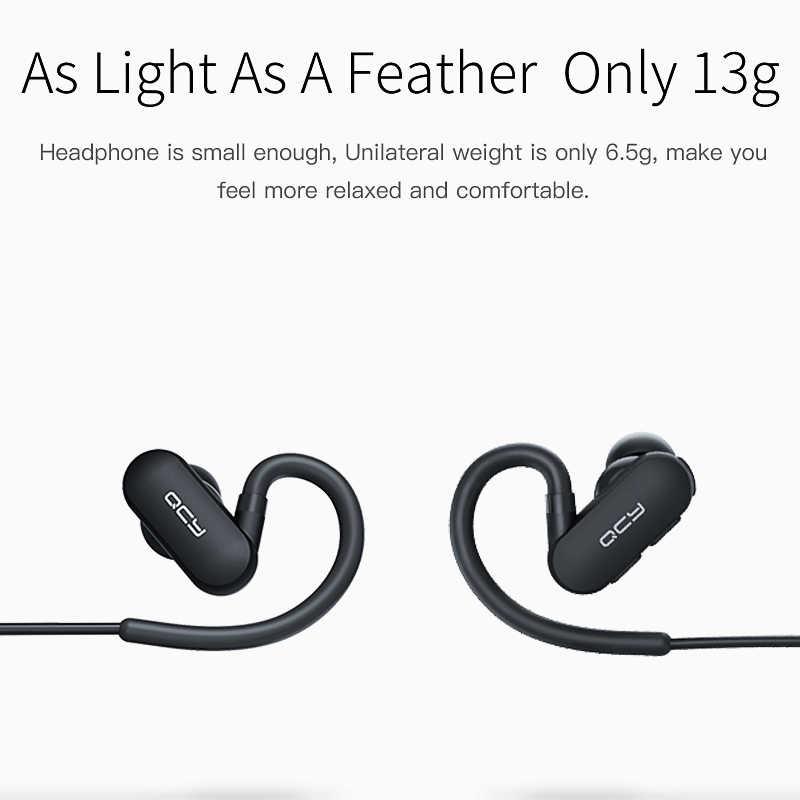 2017 QCY QY31 IPX4 słuchawki odporne na kurz sporty bezprzewodowe Bluetooth V4.1 zestaw słuchawkowy z redukcją szumów słuchawki douszne z mikrofonem i pokrowiec